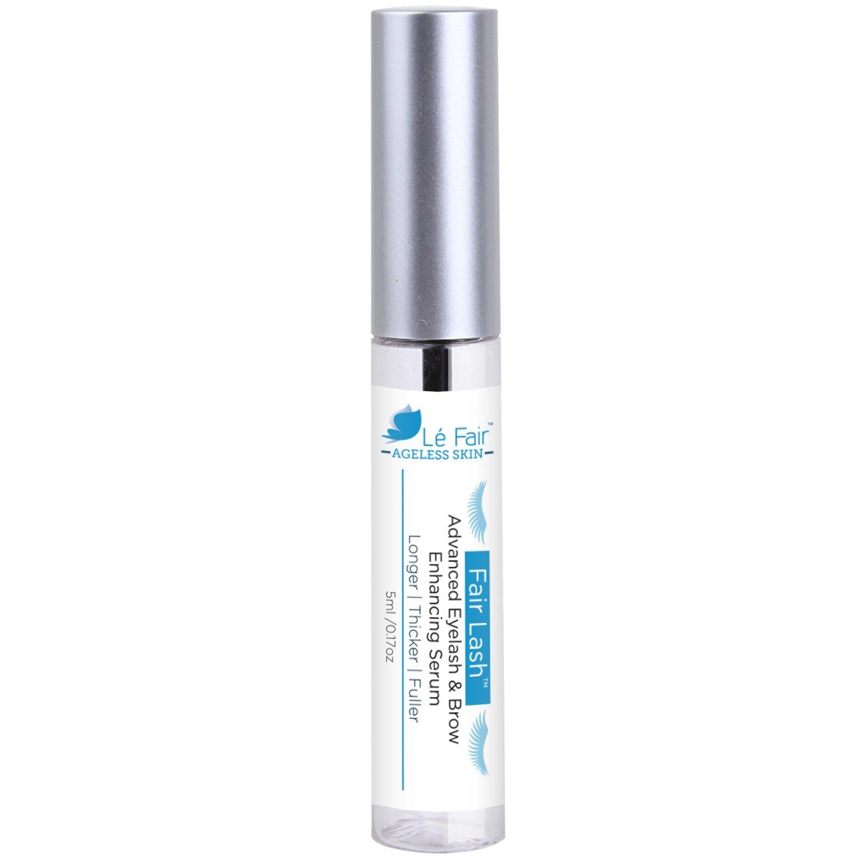 Eyelash & Eyebrow Growth Product Serum - Fair Lash by Le Fair - Better Than False Eyelashes & Extensions - Longer Thicker Fuller Lashes & Brow Enhancer Treatment Gel - No More Mascara or Eye Liner NA