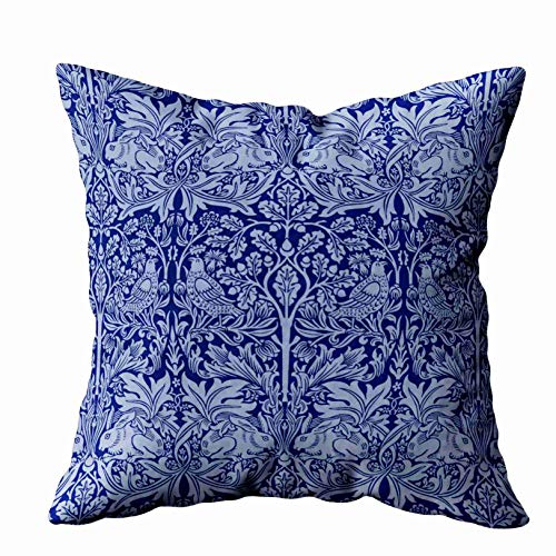 Musesh Floral Pillow Case,My Pillow Case Throw Pillows, 18x18 William Morris Rabbit Chintz Pillow for Sofa Home Decorative Pillowcase Pillow Covers