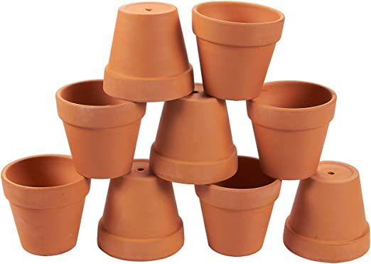 Macetas de terracota - 9-Pack Macetas de cerámica de arcilla para ...