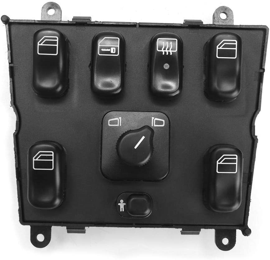 Fydun Interrupteur principal de commande de vitre /électrique 1638206610 pour W163 ML320 ML430