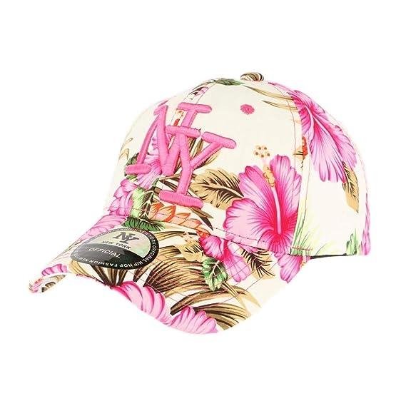 613236d0436fc Hip Hop Honour Casquette Enfant Florale Rose de 7 à 11 Ans - Fille:  Amazon.fr: Vêtements et accessoires