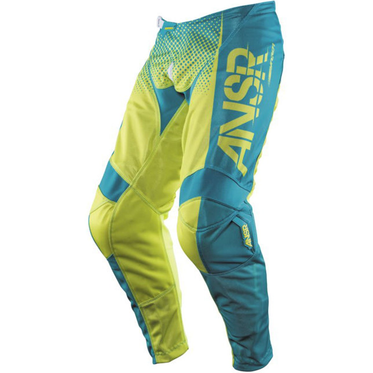Answer Racing A17.5 Syncron Air Men's Off-Road Motorcycle Pants - Yellow/Blue / Size 40 by Answer
