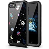 PBRO Case for iPod Touch 7 Case/iPod Touch 6 Case/iPod Touch 5 Case Cute Astronaut Case Dual Layer Hybrid Anti-Slip Sturdy Ca