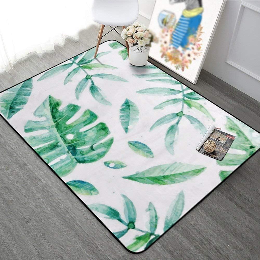 CARPET Premium Carpet- Carpet Living Room,Carpet Bedroom Fully Furnished Rooms Bedside Rugs, European Rectangular Rugs, Simple Little Fresh Plants Rugs, Entrance Hall Porch Floor Mat,120180Cm