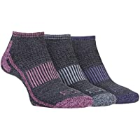 STORM BLOC Women's 3 Pack Breathable Cushioned Low Cut Ankle Trainer Socks, Grey, 4-8 Womens UK