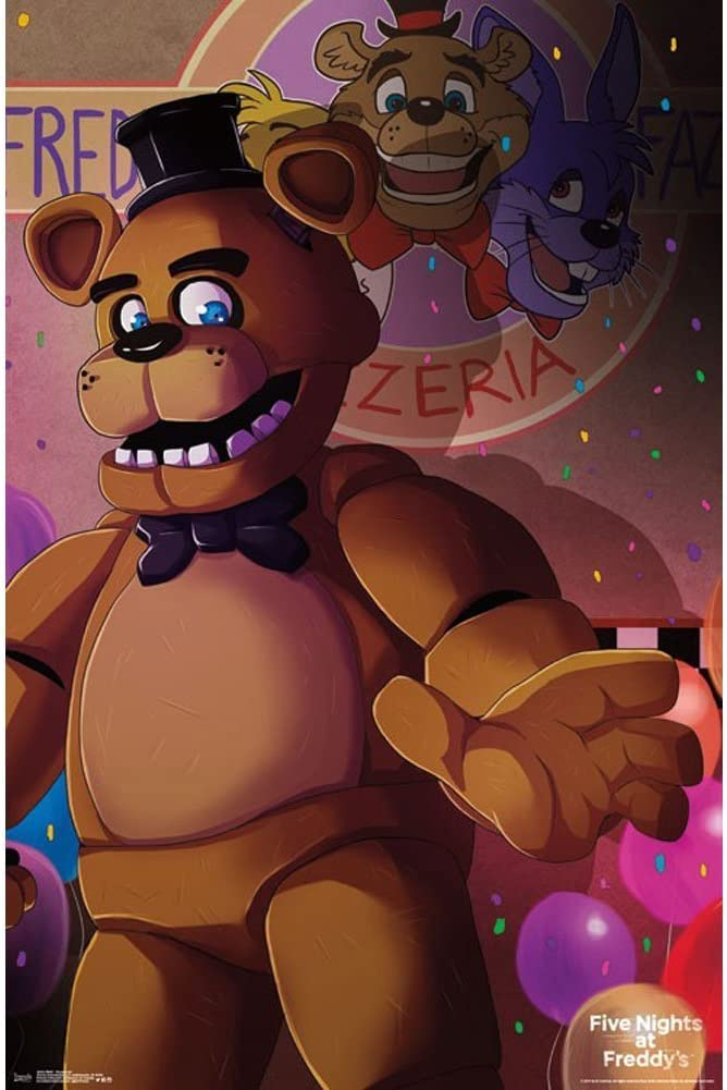 """Trends International Five Nights At Freddy's Pizzeria Art Wall Poster 22.375"""" x 34"""""""