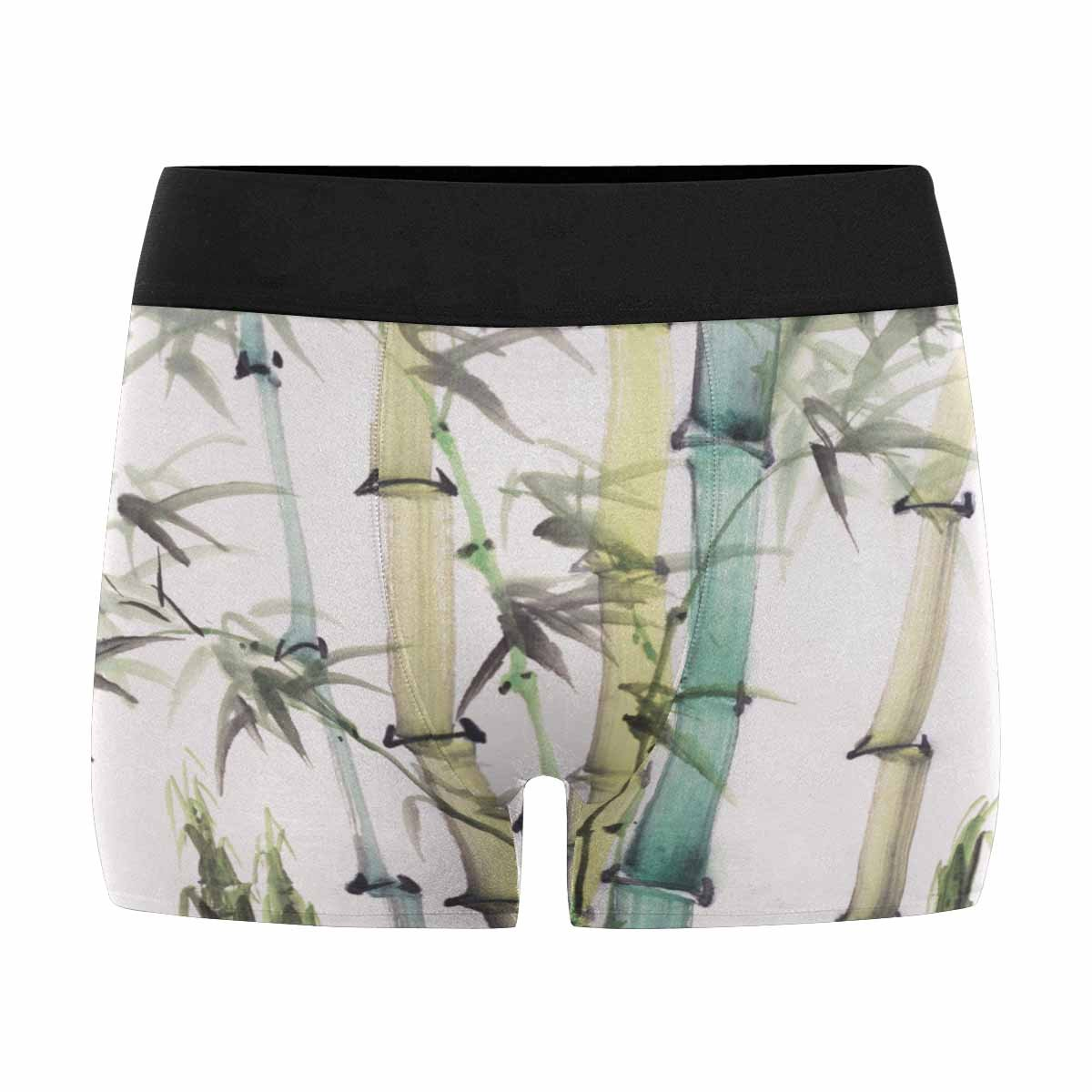 INTERESTPRINT Mens Boxer Briefs Underwear Chinese Painting of Bamboo XS-3XL