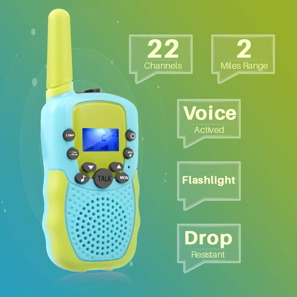 OMWay Toys for 4-5 Year Old Boys, Walkie Talkies for Boys Age 5-10,Outdoor Toys for Kids Toddlers,Kids Camping Gear,3-12 Year Old Boy Gifts,2 Way Radio,2 Miles,Birthday Gifts Ideas. by OMWay (Image #2)
