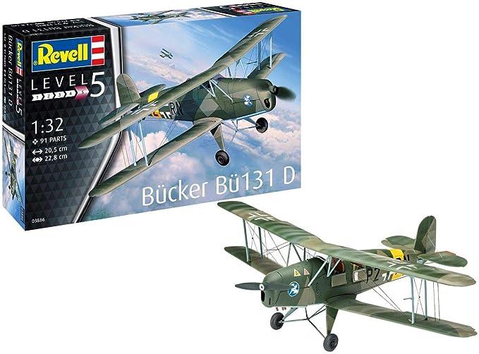 """Revell 1:32 03886 Bucker Bu 131 /""""Jungmann/"""" Model Aircraft Kit"""