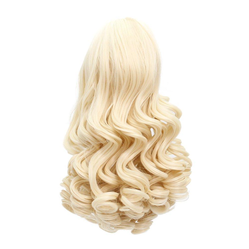 MUZI WIG Doll Hair Wig, Long Wavy Heat Resist Doll Wigs for 18'' American Dolls (88)