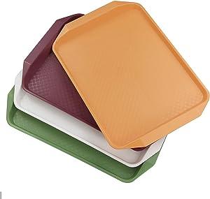 Idomy Plastic Fast food Serving Trays, 4-Pack