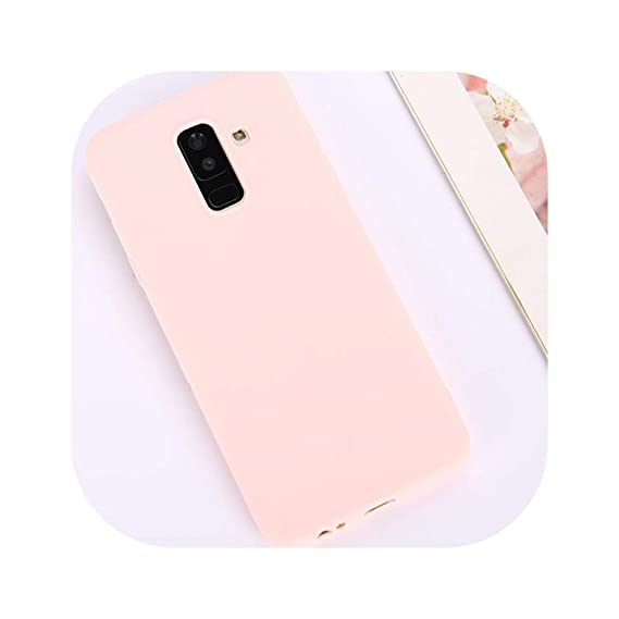 Candy Color Case for Samsung Galaxy A50 A70 A5 2017 J4 J6 Plus J8 A8 A6 A7 2018 S8 S9 S10 Plus S10E Note9 M20 Soft Cover,Pink,S8 Plus