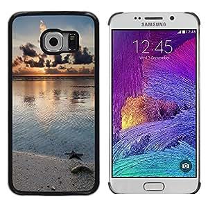 iKiki Tech / Estuche rígido - Nature Beach Star - Samsung Galaxy S6 EDGE SM-G925