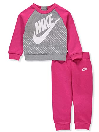 reputable site 858c8 5e84e Nike Baby Girls  2-Piece Sweatsuit Pants Set - Rush Pink, 12 Months
