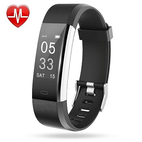 Lintelek Fitness Tracker Fitness Armband Fitness Uhr Smart Armband Schrittzähler Pulsmesser Herzfrequenzgerät Schlafmonitor Vibrationsalarm Kompatibel mit IOS Android