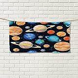 Chaneyhouse Galaxy large hand towels Cute Galaxy Space Art Solar System Planets Mars Mercury Uranus Jupiter Venus Kids Printcute hand towels Multi