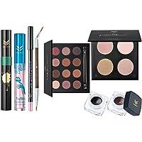 MagiDeal Juego de Maquillaje Paleta de Sombras de Ojos + Bronzer Palette + 2 Lápiz de Delineador de Ojos + Lápiz Labial Shimmer + Rimel + Lip Liner + Cepillo de Doble Cabeza