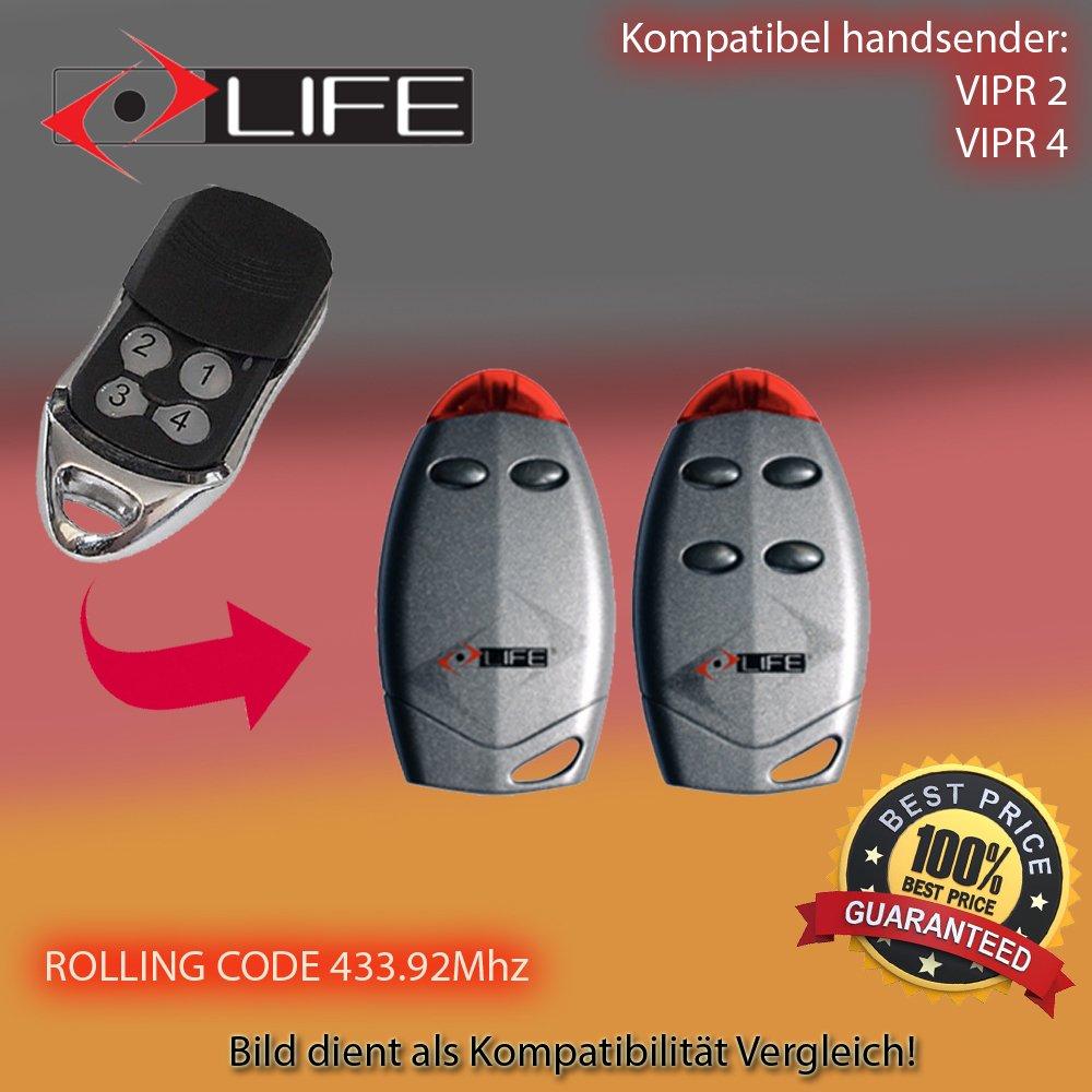 compatible con 433.92/MHz Life VIP 2/* Life VIP 4/* emisor manual para