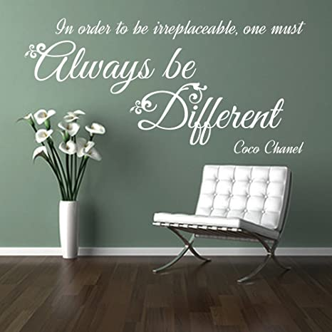 Cc Always Be Different Citation De Coco Chanel Fille Fashion