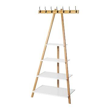 SoBuy® - Estantes con forma de escalera, perchero de ...