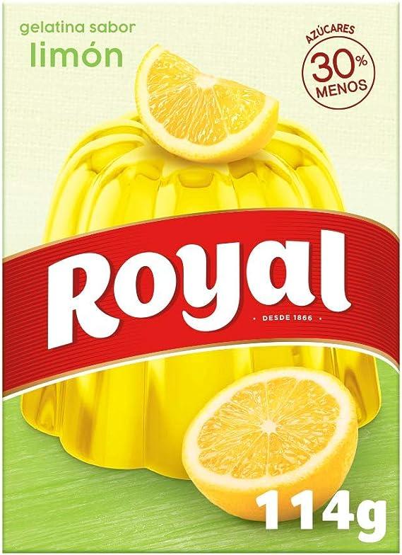 Royal Gelatina en Polvo Sabor Limón con Vitamina C, 30 ...