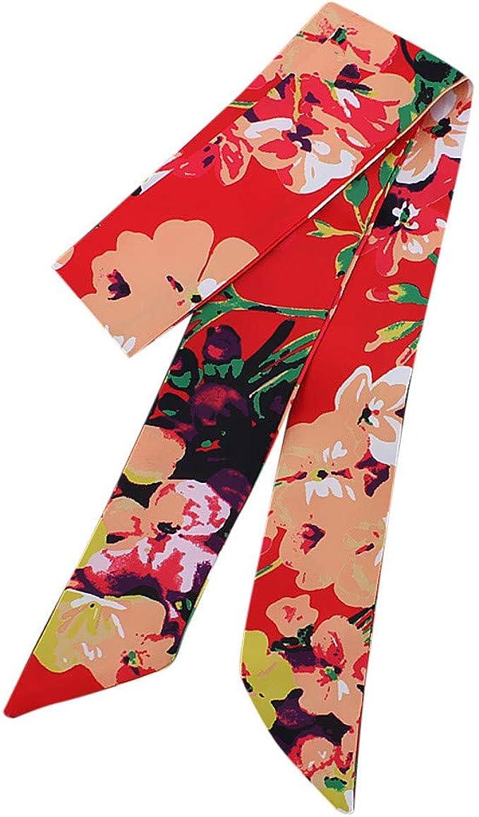 Xmiral Sciarpa Donna Foulard Donna Scarf Donna,Ragazze Moda Fascia per capelli Elegante Borsa Retro borsetta Sciarpa Colore Headwear nastro decorativo Polso Taglia unica D