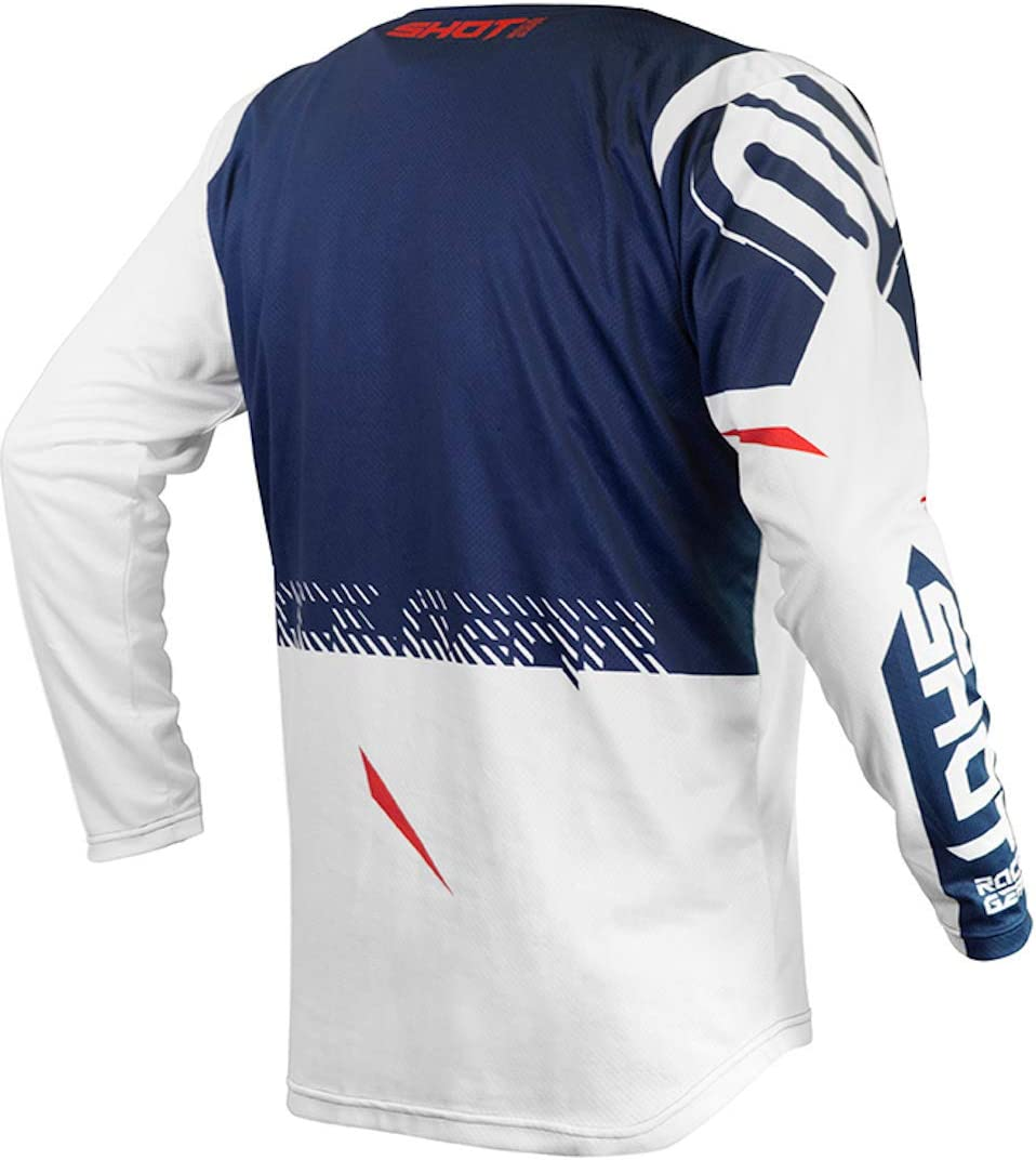 SHOT maillot cross Contact Trust bleu rouge Taille S