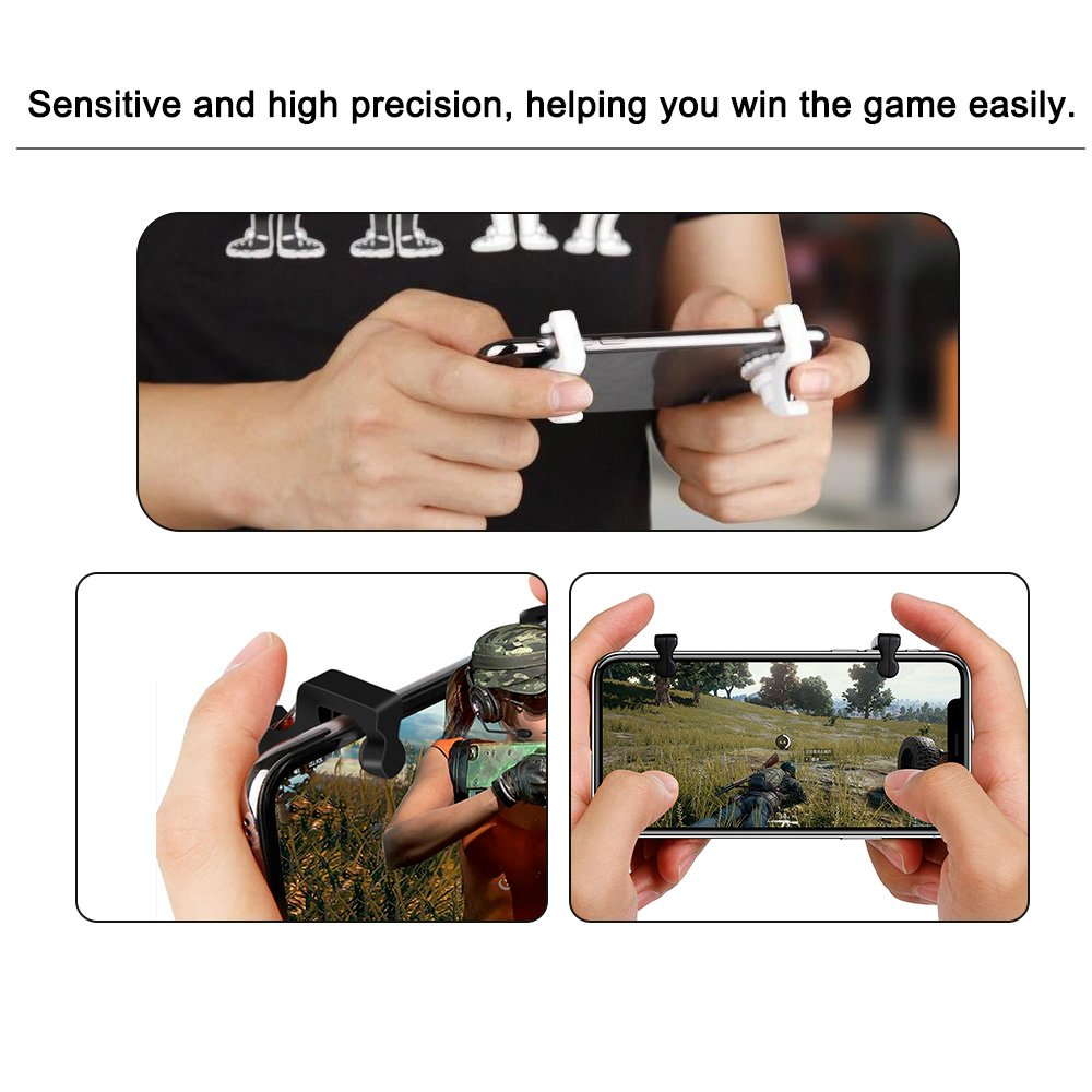 Aroc PUBG Mobile Game Controller(Lastest Version), Sensitive Shoot and Aim Buttons for PUBG/Knives Out/Rules of Survival,Cell Phone Game Controller for Android IOS (1 Pair)