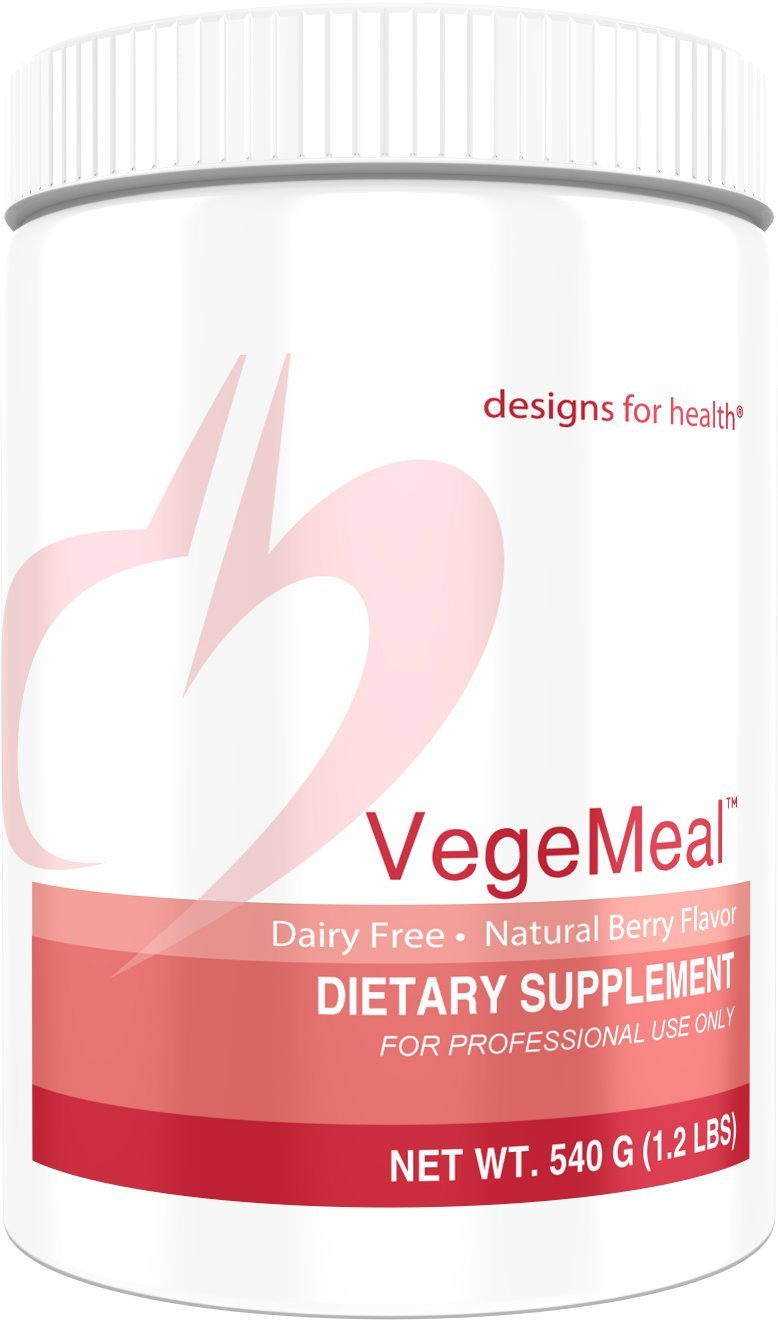 Designs for Health - VegeMeal Berry (Formerly PaleoMeal DF) - Dairy + Gluten Free Pea Protein Meal Supplement, 540 Grams