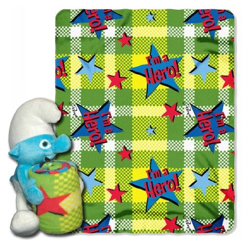Sony, Smurfs, I'm a Hero 40-Inch-by-50-Inch Fleece Blanket w