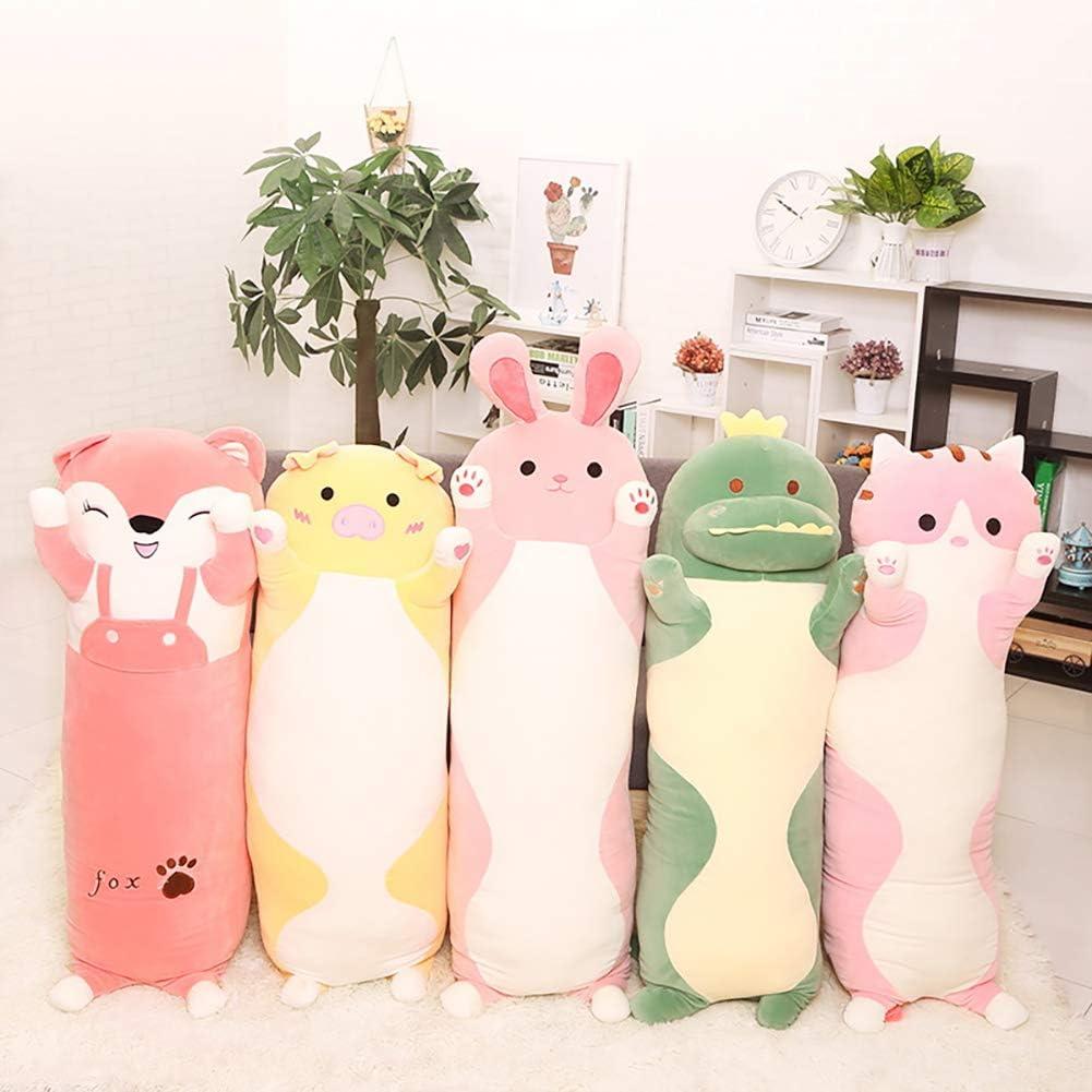 Wind Goal Animal Hugging Pillow Super Soft Stuffed Plush Animals Long Sleeping Throw Pillow Toy For Kid Girl