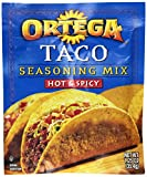 Ortega Taco Seasoning Mix, Hot & Spicy, 1.25 Ounce (Pack of 24)