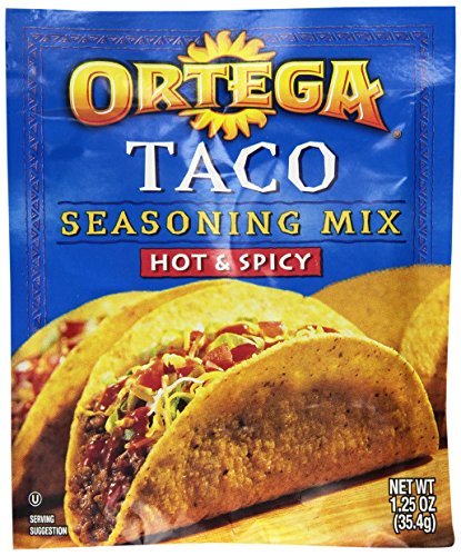 Ortega Seasoning Mix, Hot & Spicy Taco, 1.25 Ounce (Pack of 24) (Mix Taco Seasoning Spicy)