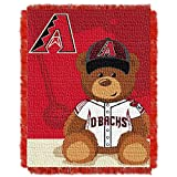 "Officially Licensed MLB Field Bear Baby Woven Jacquard Throw Blanket, Soft & Cozy, Washable, Throws & Bedding, 36"" x 46"""
