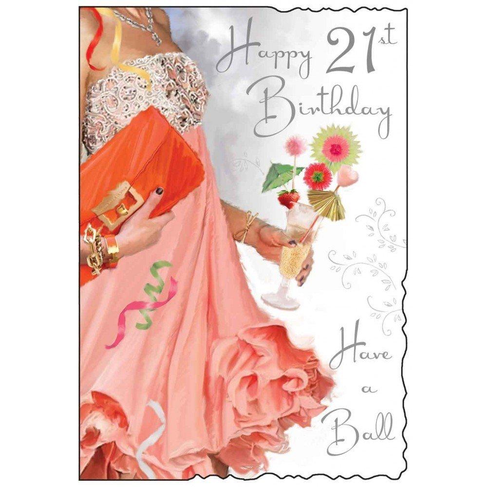 Jonny Javelin Female 21st Birthday Card Amazoncouk Electronics – 21 Birthday Card