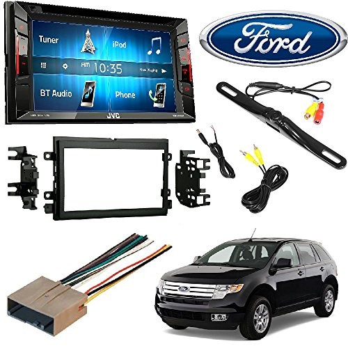 JVC KW-V140BT Double Din BT in-Dash DVD/CD/AM/FM Stereo + Double DIN Stereo Install Dash KIT W/Wire Harness for Ford Lincoln Mercury Cars + Rear View Camera Review