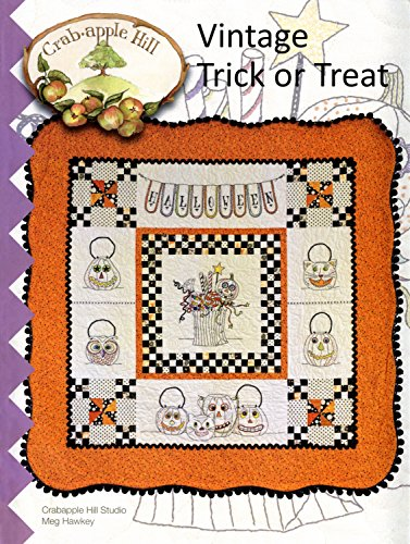 Vintage Trick or Treat Halloween Embroidery Pattern by Meg Hawkey From Crabapple Hill Studio -