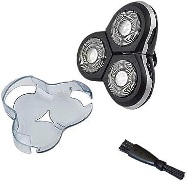 Razor Blade Electric - Cabezal de repuesto para afeitadora eléctrica con cepillo limpio, compatible con Philips RQ12/50 Norelco SensoTouch 3D RQ12xx: Amazon.es: Salud y cuidado personal