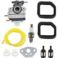 HURI Carburetor Air Filter for Ryobi RBC254SESO RLT254CDSO RLT254CSEON RLT254SDSO RPP254JO Trimmer Carburettor Spark…