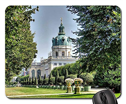 Mouse Pads - Castle Charlottenburg Side View Schlossgarten Berlin