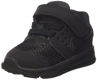 Nike Boys' Downshifter 7 TD Sneakers, Black (Black/Black), 2