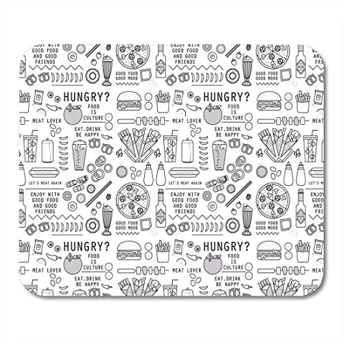 Yanteng Mouse Pads Mouse Pads Hamburger Line Food and Drink Pattern File for Restaurant Brand Packaging Flat Pizza Mouse Pad for notebooks,Desktop Computers mats (Toothpaste Pizza)