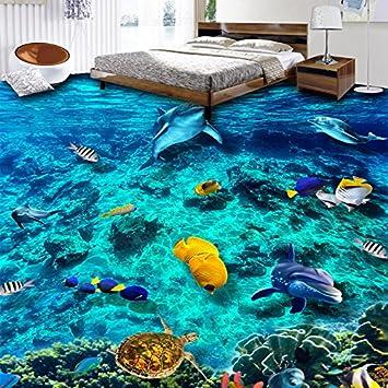 Weaeo Foto Wallpaper 3d Unterwasserwelt Bodenfliesen Wandmalereien