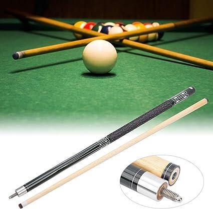 DaMohony - Juego de tacos de billar (madera dura, 13 mm, 2 unidades), color negro: Amazon.es: Deportes y aire libre