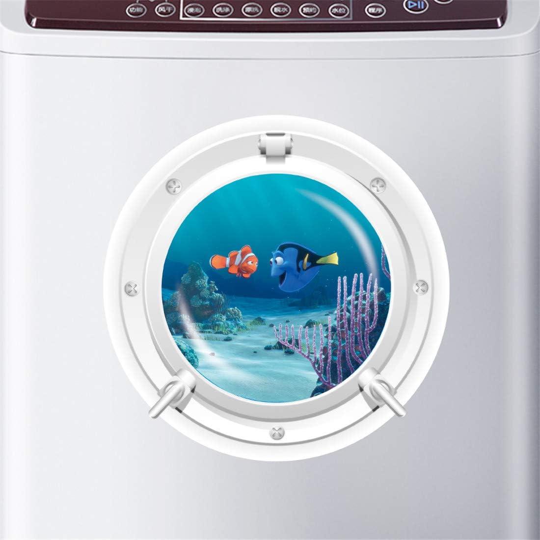 Habitación infantil, frigorífico, lavadora, fondo marino ...
