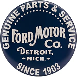Open Road Brands Ford Vintage Parts & Service Round Metal Button Sign