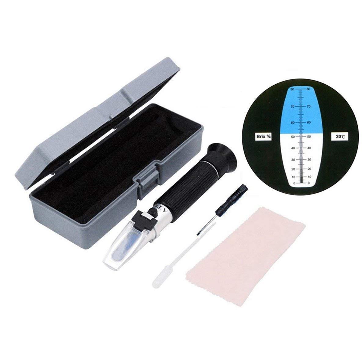 Moliies 0-80% brix Miel Tenu dans la Main de Mesure très précise équipement Portable réfractomètre de Miel Apiculteur mètre matériel