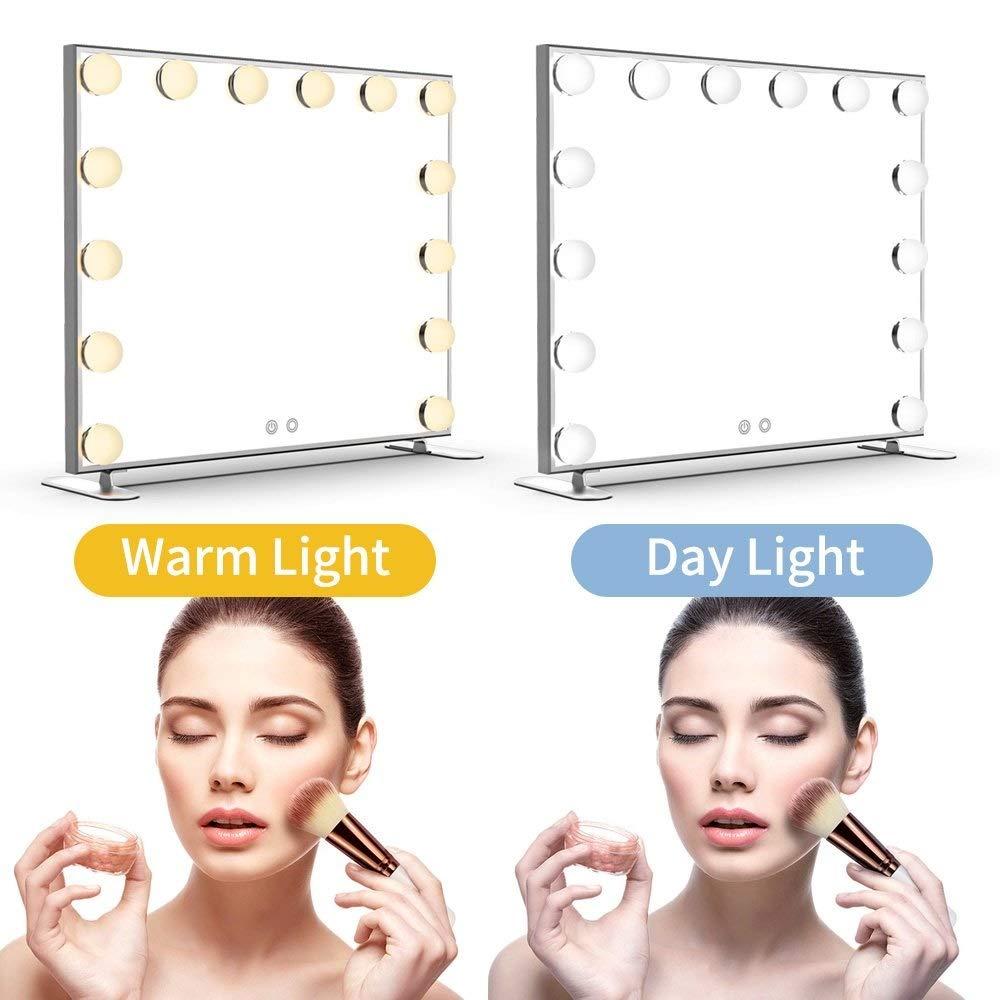 beleuchteter Tischspiegel beleuchteter Kosmetikspiegel mit Standfu/ß KosmetikspiegelH0509 Beleuchteter Kosmetikspiegel Hollywood Kosmetikspiegel mit Licht