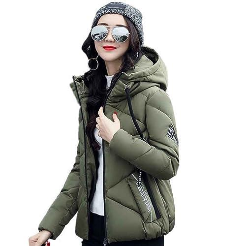 Ranboo invierno mujer abajo chaqueta de algodón Tops cremallera abrigo Outwear