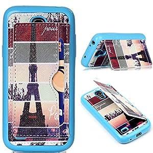 Case S4 mini,leather S4 mini,wallet S4 mini,Flip S4 mini,Galaxy S4 mini Cover,Kaseberry Kickstand Leather Book Wallet Case for Samsung Galaxy S4 mini